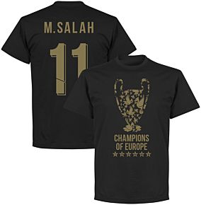 Liverpool Trophy M. Salah 11 Champions of Europe Tee - Black