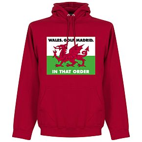 Wales, Golf, Madrid, In That Order Hoodie - Red