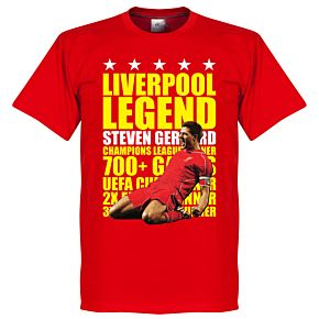 Steven Gerrard Legend Tee - Red/Yellow