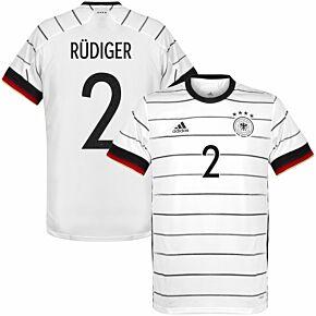20-21 Germany Home Shirt + Rüdiger 2 (Official Printing)