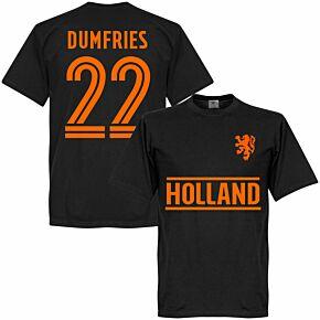 Holland Dumfries 22 Team T-shirt - Black