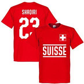 Switzerland Shaqiri 23 Team Tee - Red