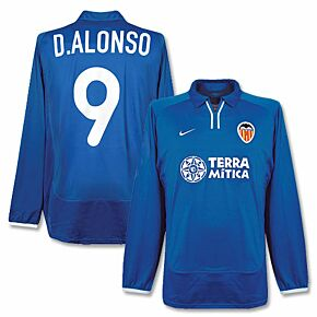 Nike Valencia 3rd L/S D. Alonso No. 9 - Player Issue Jersey 2000-2001 - NEW - Size Large