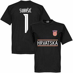 Croatia Subasic 1 Team T-shirt - Black