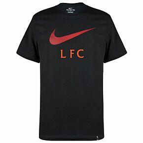 21-22 Liverpool Swoosh Club T-Shirt - Black