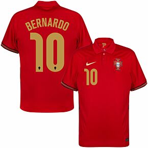 20-21 Portugal Home Shirt + Bernardo 10 (Official Printing)