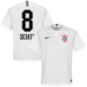 Corinthians Home Socrates 8 Jersey 2018 2019 (Fan Style Printing)
