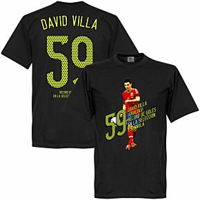 David Villa 59 Goals Tee - Black