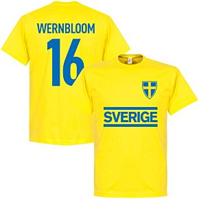 Sweden Wernbloom Team Tee - Yellow