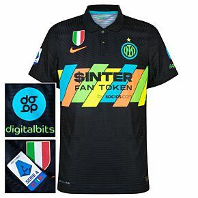 21-22 Inter Milan Dri-Fit ADV Match 3rd Shirt + Serie A + Scudetto + Digitalbits