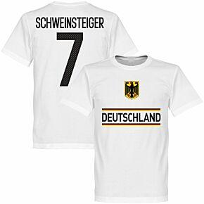 Germany Schweinsteiger 7 Team Tee - White