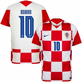 20-21 Croatia Home Shirt + Boban 10 (Official Printing)