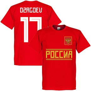 Russia Dzagoev 17 Team Tee - Red
