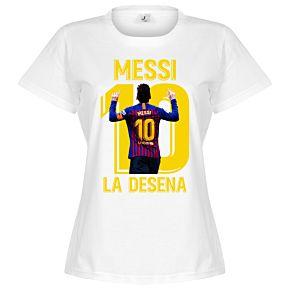 Messi La Desena Womens Tee - White