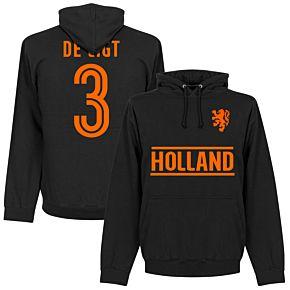 Holland De Ligt Team Hoodie - Black