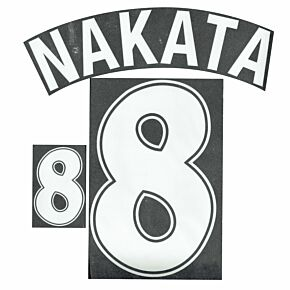 Nakata 8 - 1998 Japan Home Flex Name and Number Transfer