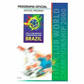 Fifa Club World Championship 2000 Program - Brazil