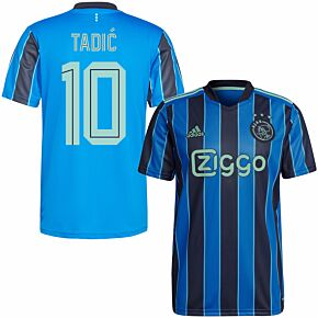 21-22 Ajax Away Shirt + Tadic 10 (Fan Style Printing)