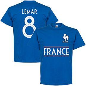 France Lemar 8 Team Tee - Royal