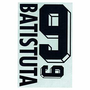 Batistuta 9 - 1998 Argentina Home Flock Name and Number