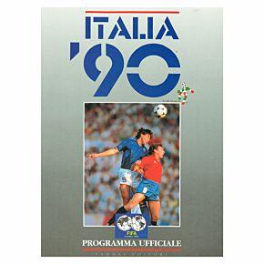 1990 World Cup Official Souvenir Program - Italian Edition - World Cup Finals, Italy