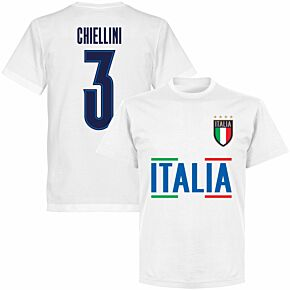 Italy Chiellini 3 Team KIDS T-shirt - White