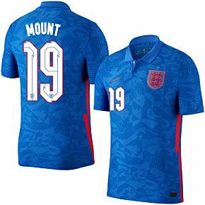 20-21 England Vapor Match Away Shirt + Mount 19 (Official Printing)