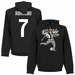 Ronaldo 7 Script Hoodie - Black
