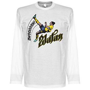 Zlatan Ibrahimovic Bicycle Kick L/S Tee - White