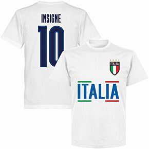 Italy Insigne 10 Team T-shirt - White