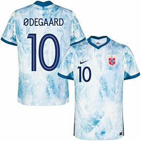 20-21 Norway Away Shirt + Ødegaard 10 (Official Printing)