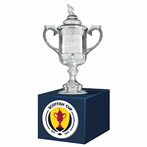 Scottish Cup Official Replica Trophy (70mm) on Wooden Pedestal