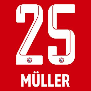 Müller 25 (Official Printing) - 21-22 Bayern Munich Home