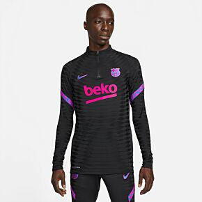 21-22 Barcelona Champions League Dri-Fit ADV Elite L/S 1/4 Zip Drill Top - Black