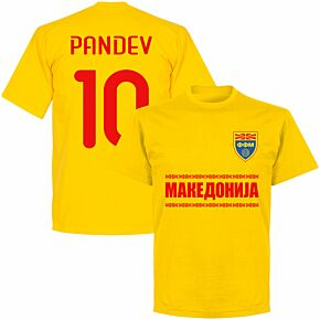 Macedonia Pandev 10 Team KIDS T-shirt - Yellow