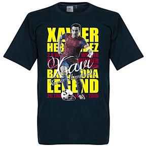 Xavi Hernandez Legend Tee - Navy