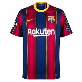 20-21 Barcelona Home Euro Shirt + UCL Patch Set