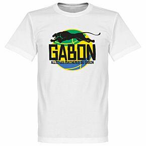 Gabon Logo Tee - White