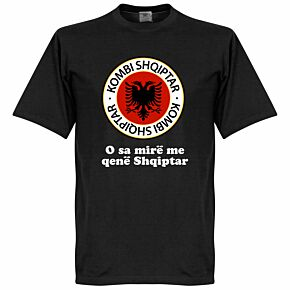 Albania Crest Slogan Tee - Black