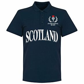 Scotland Rugby Polo Shirt - Navy