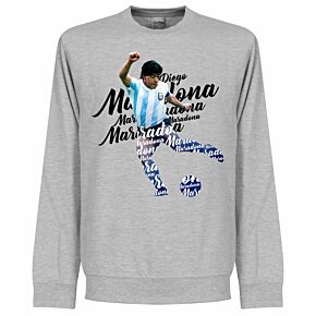Maradona Script Sweatshirt - Grey Heather