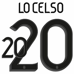 Lo Celso 20 (Official Printing) - 20-21 Argentina Home
