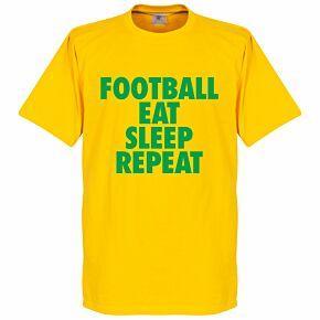 Football Addiction Tee - Yellow/Green