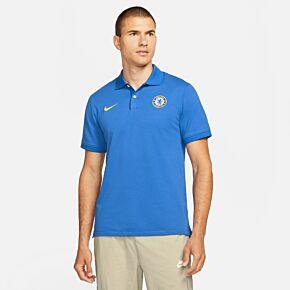 21-22 Chelsea Slim Polo Shirt - Blue