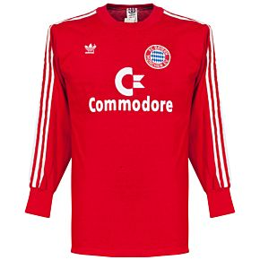 adidas Bayern Munich 1985-1986 Home L/S Shirt - USED Condition (Excellent) - Size Small