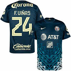 21-22 Club America Away Shirt + F.Viñas 24 (Fan Style Printing)