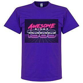 Awesome Since 1989 Tee - Purple
