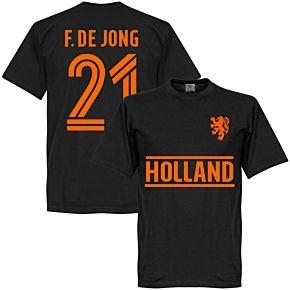 Holland F. De Jong Team T-Shirt - Black