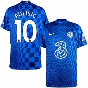 21-22 Chelsea Home Shirt + Pulisic 10 (Premier League)