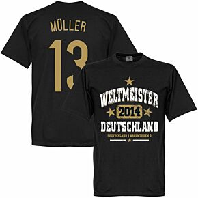 Deutschland Weltmeister Müller Tee - Black